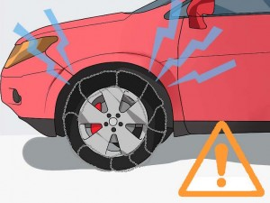 Snow Chains Can Cause Damage
