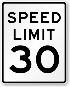 Speed Limit for Tire Chains and Winter Driving